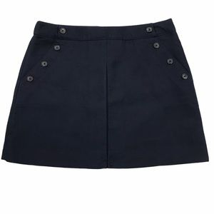 NWT gap solid navy blue A-line mini skirt size 14